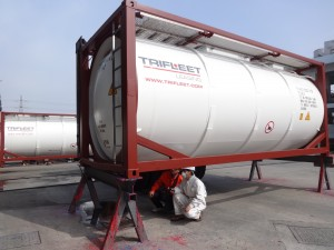 Trifleet Tank Container Being inspected